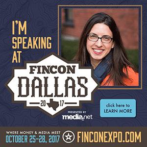 Claudia Pennington speaking at FinCon 2017
