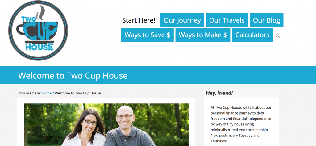Two Cup House, personal finance blog