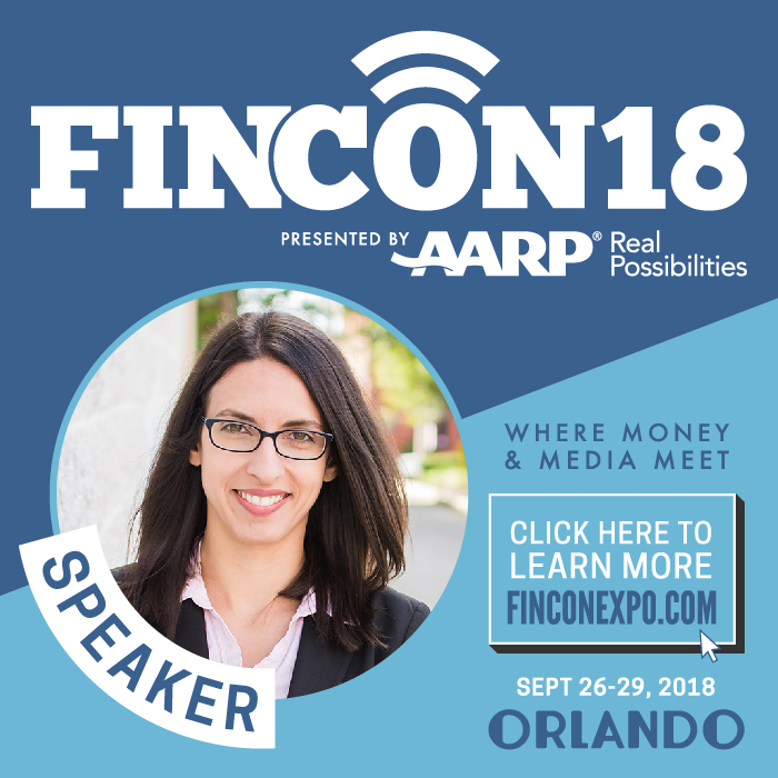 Claudia Pennington speaking SEO and analytics FinCon 2018